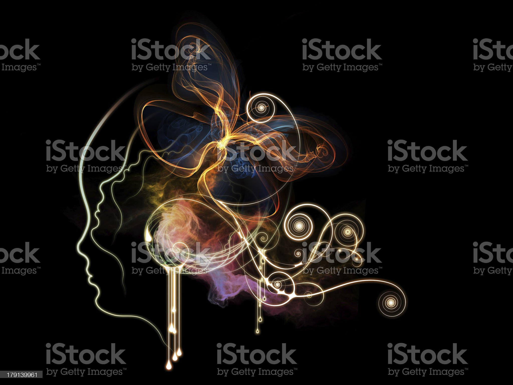 Source of Inner Thoughts royalty-free stock vector art