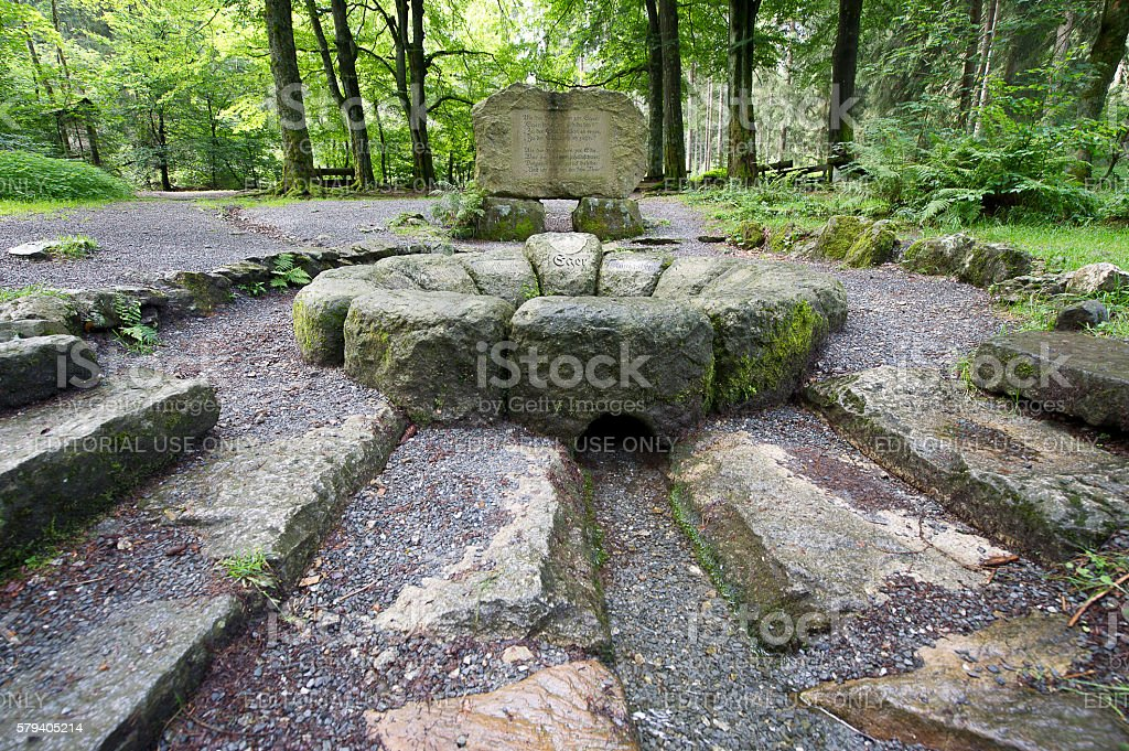 Source of River Eger stock photo