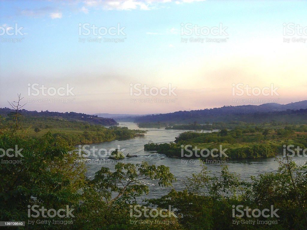 Source of the Nile stock photo