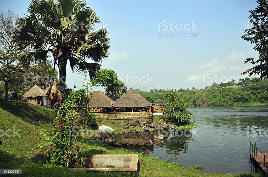 Source of the Nile river stock photo