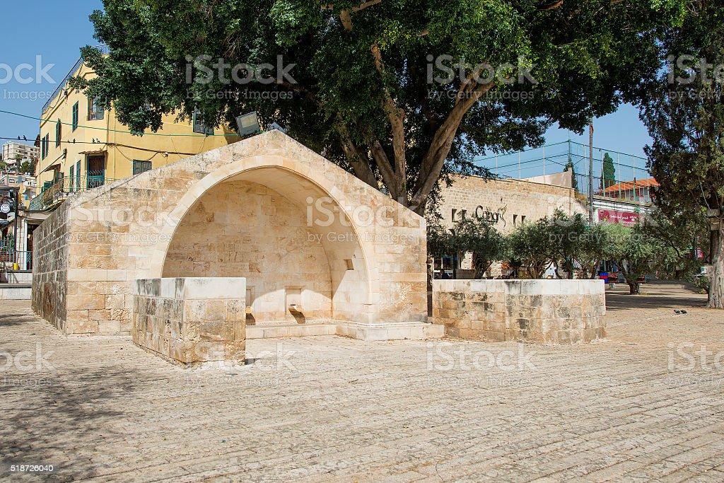 Source of the Virgin Mary. Nazareth stock photo