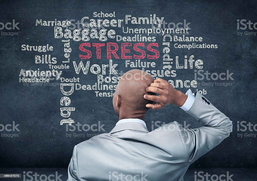 Sources of stress stock photo