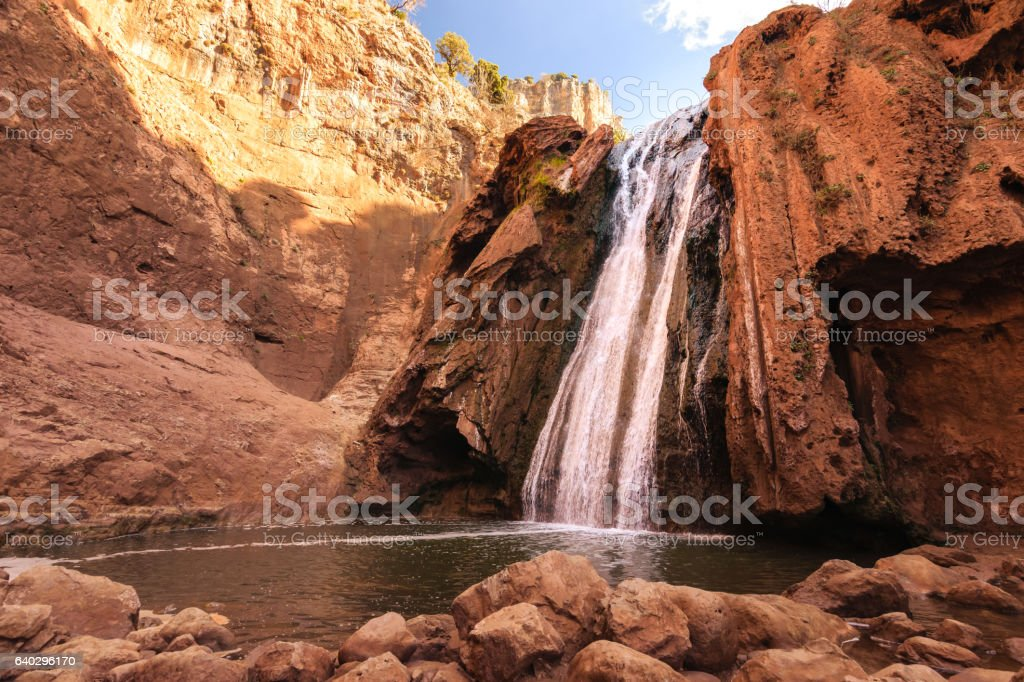 Sources Oum er- Rbia, Aguelmam Azigza National Park, Morocco stock photo