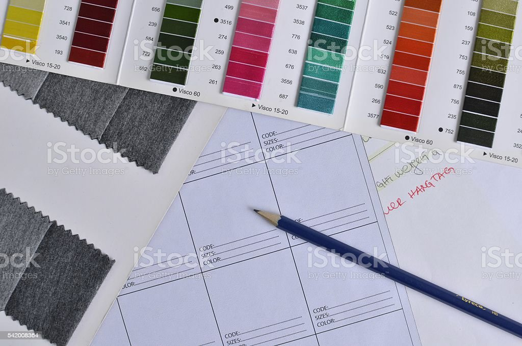 Sourcing tools for clothing design stock photo