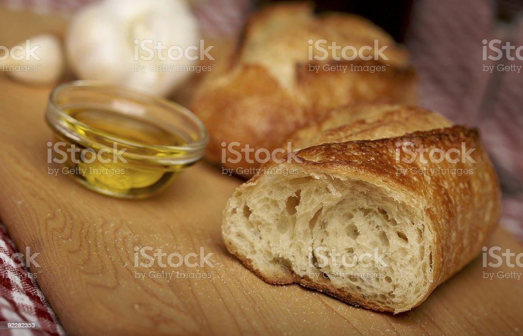 Sourdough Bread on Cutting Board stock photo
