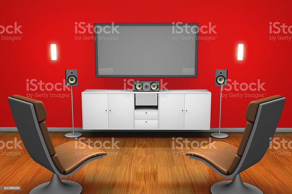 Sourround sound Room stock photo