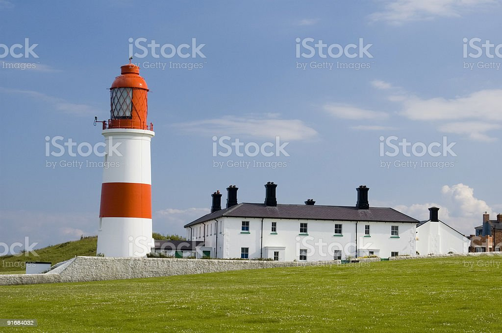 Souter Lighthouse stock photo