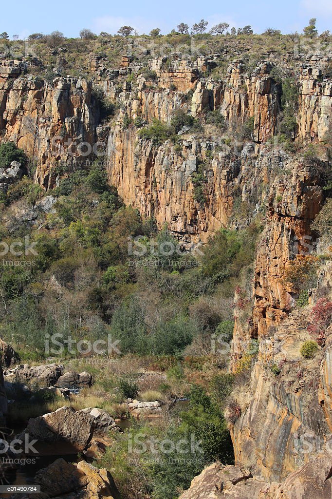 South Africa: Bourke's Luck Potholes stock photo