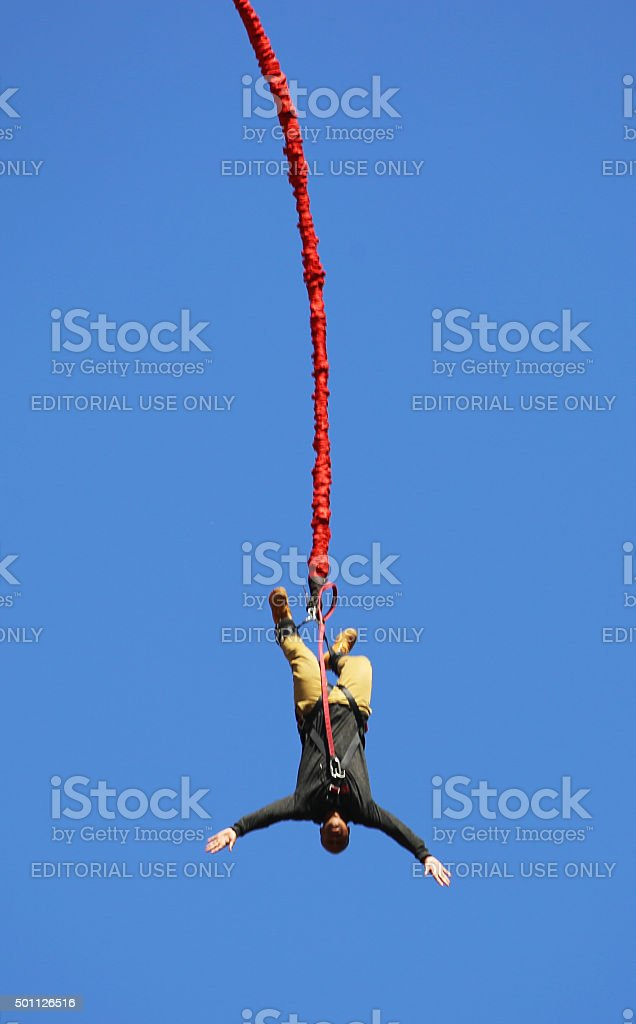 South Africa: Bungee Jumping in Soweto stock photo