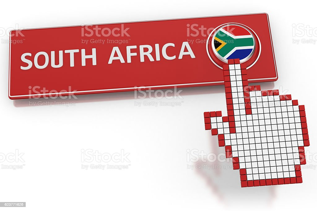 South Africa - Button stock photo