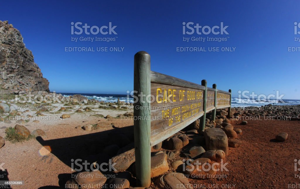 South Africa: Cape Of Good Hope Sign stock photo