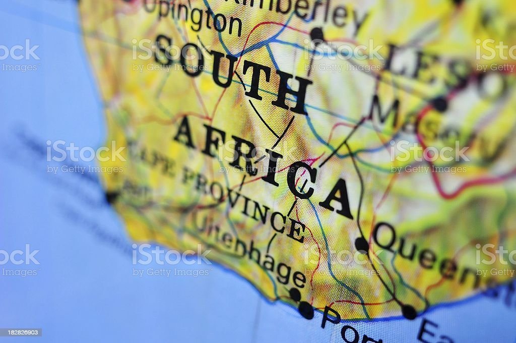 South Africa country map royalty-free stock photo