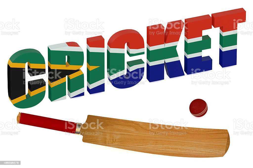 South Africa Cricket concept stock photo