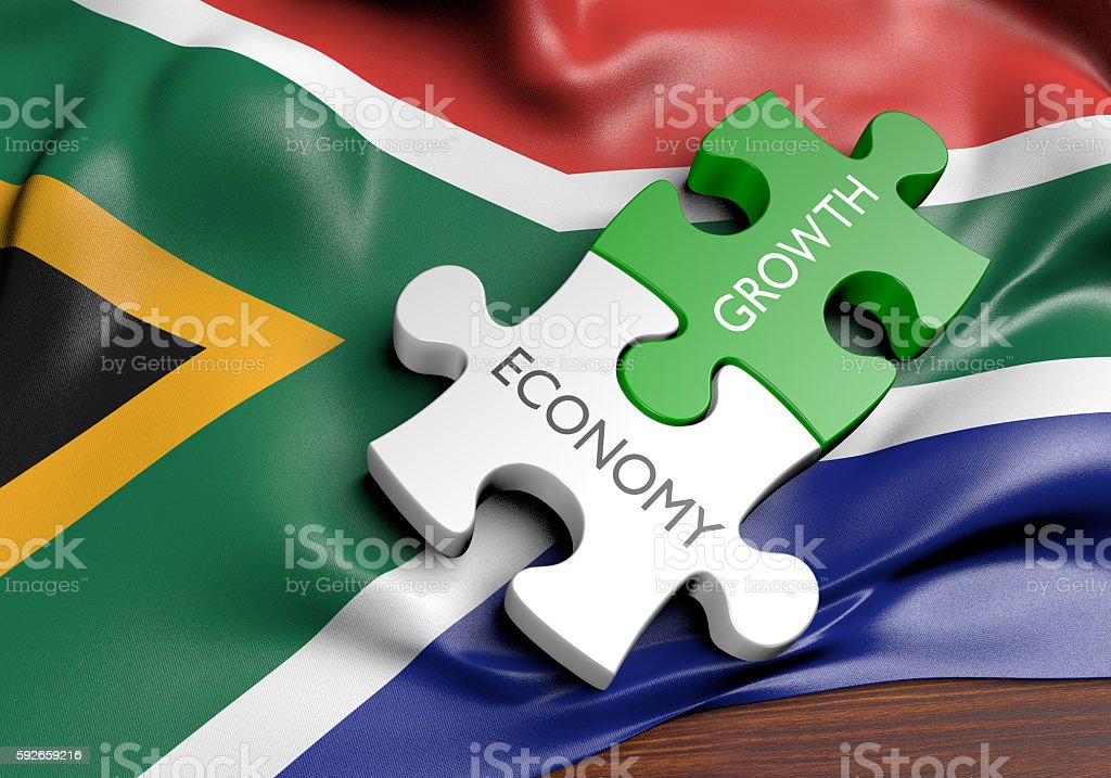 South Africa economy and financial market growth concept, 3D rendering stock photo