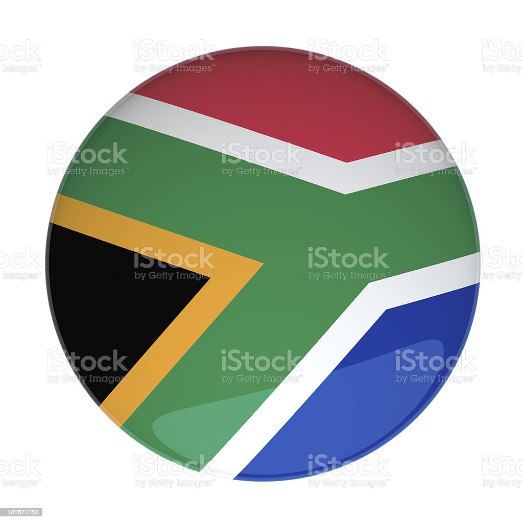 South Africa Flag royalty-free stock photo