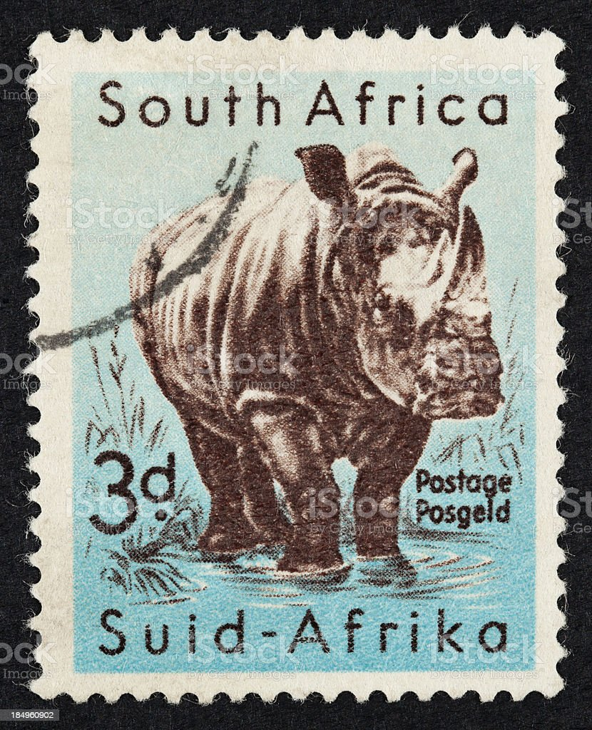 South Africa postage stamps royalty-free stock photo