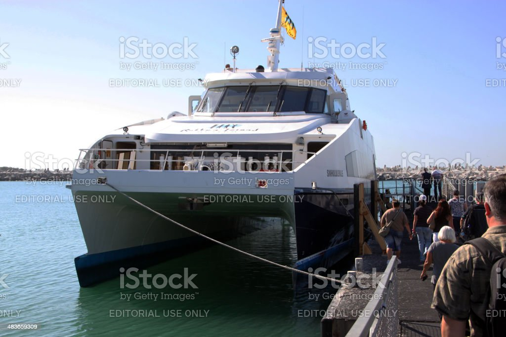South Africa: Robben Island Ferry stock photo