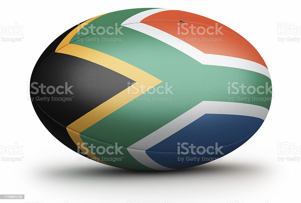 South Africa Rugby Ball royalty-free stock photo