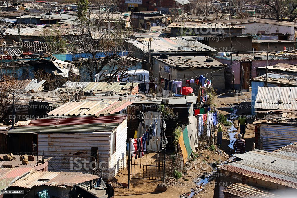 South Africa: Slums of Soweto stock photo