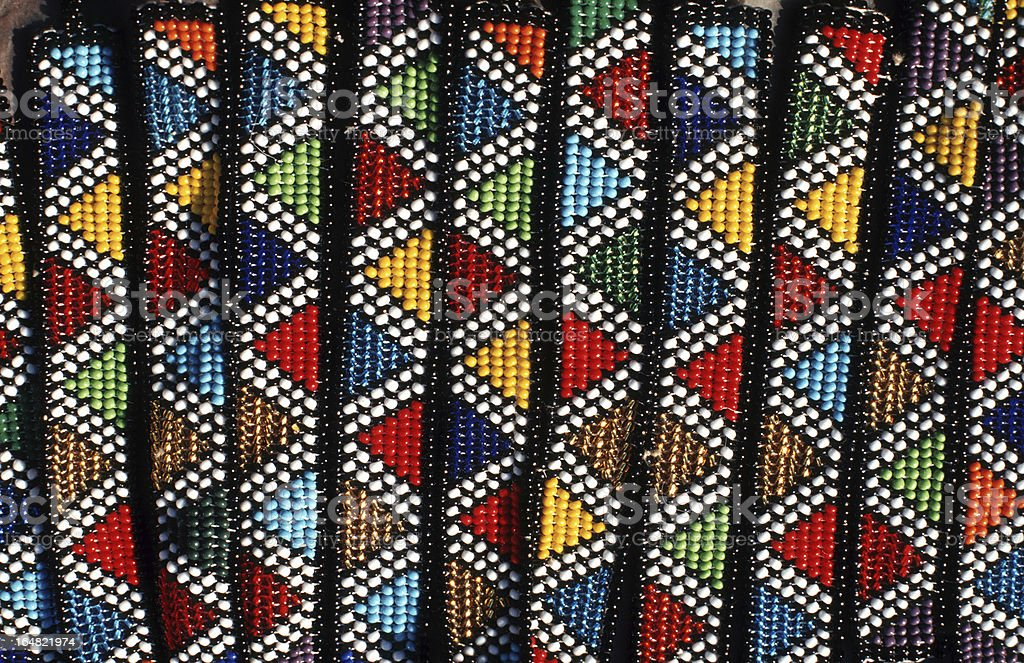 South Africa, traditional Zulu beadwork. royalty-free stock photo