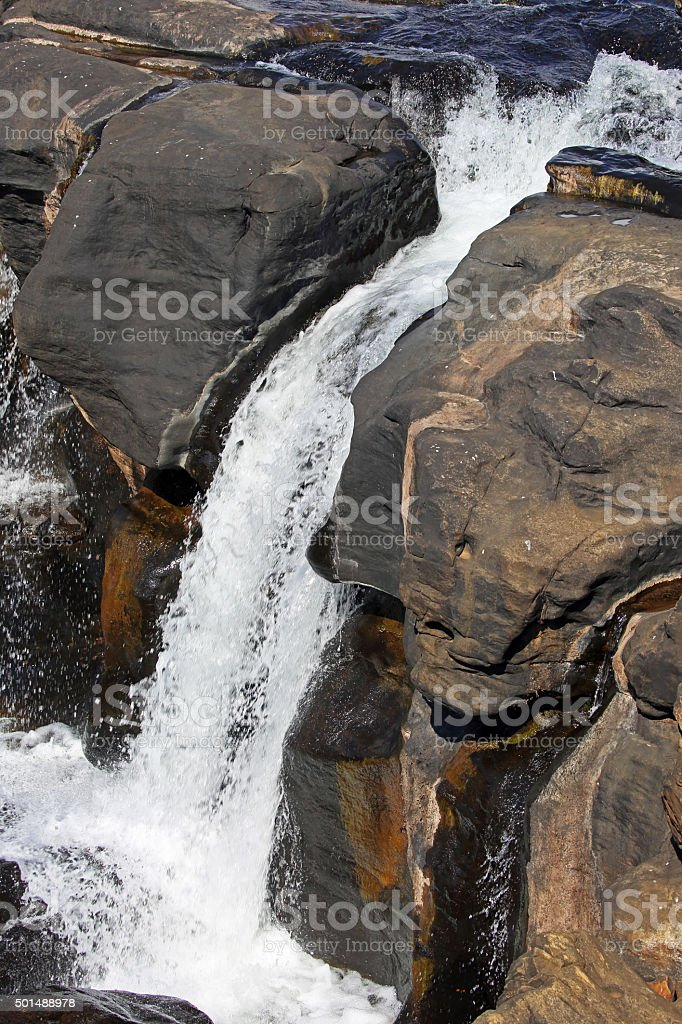South Africa: Waterfalls at Bourke's Luck Potholes stock photo