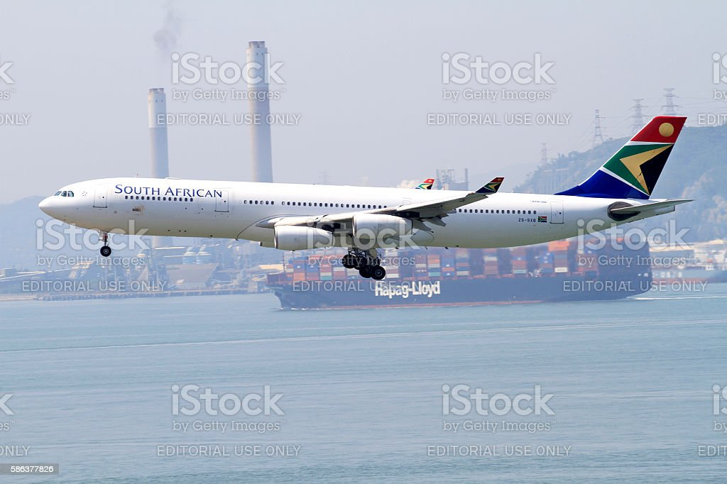 South African A340-300 stock photo