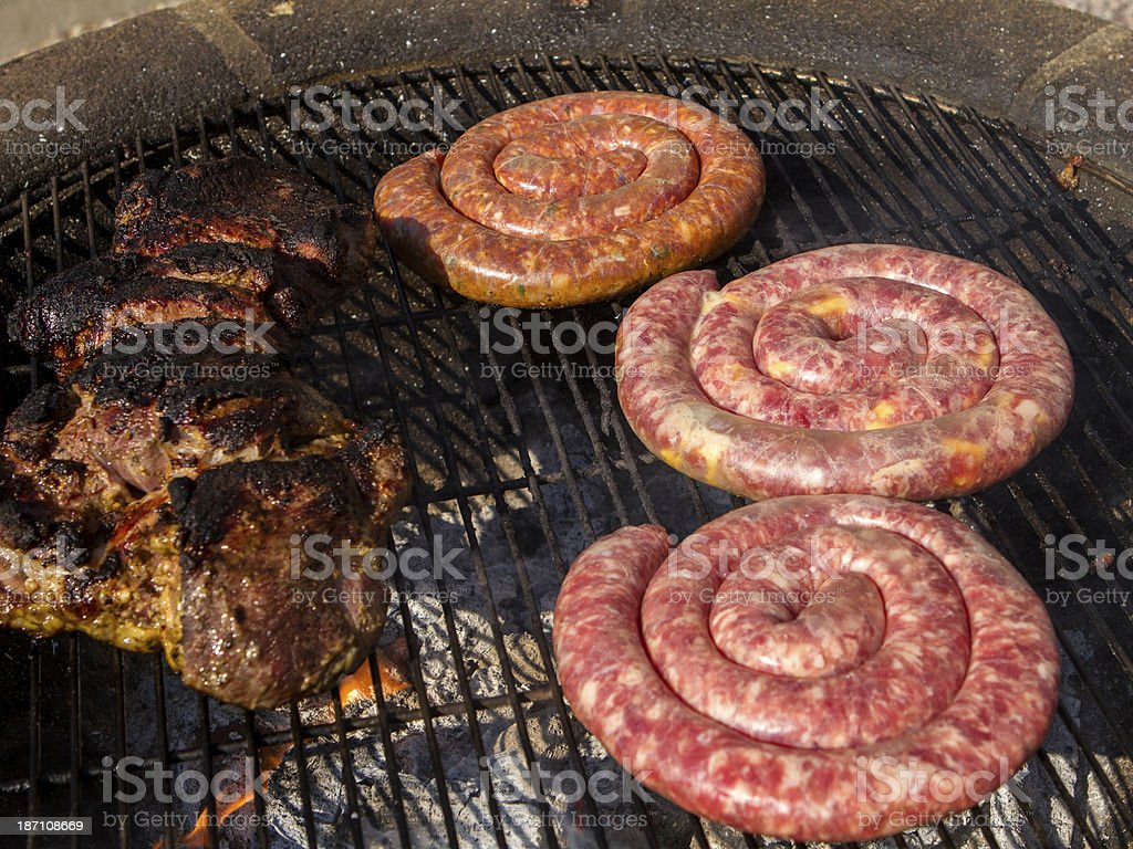 South African BBQ on the grill royalty-free stock photo