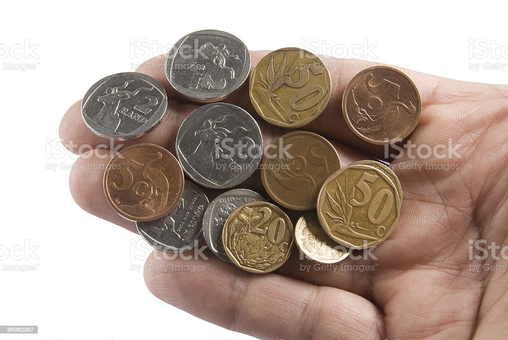 South African coins stock photo