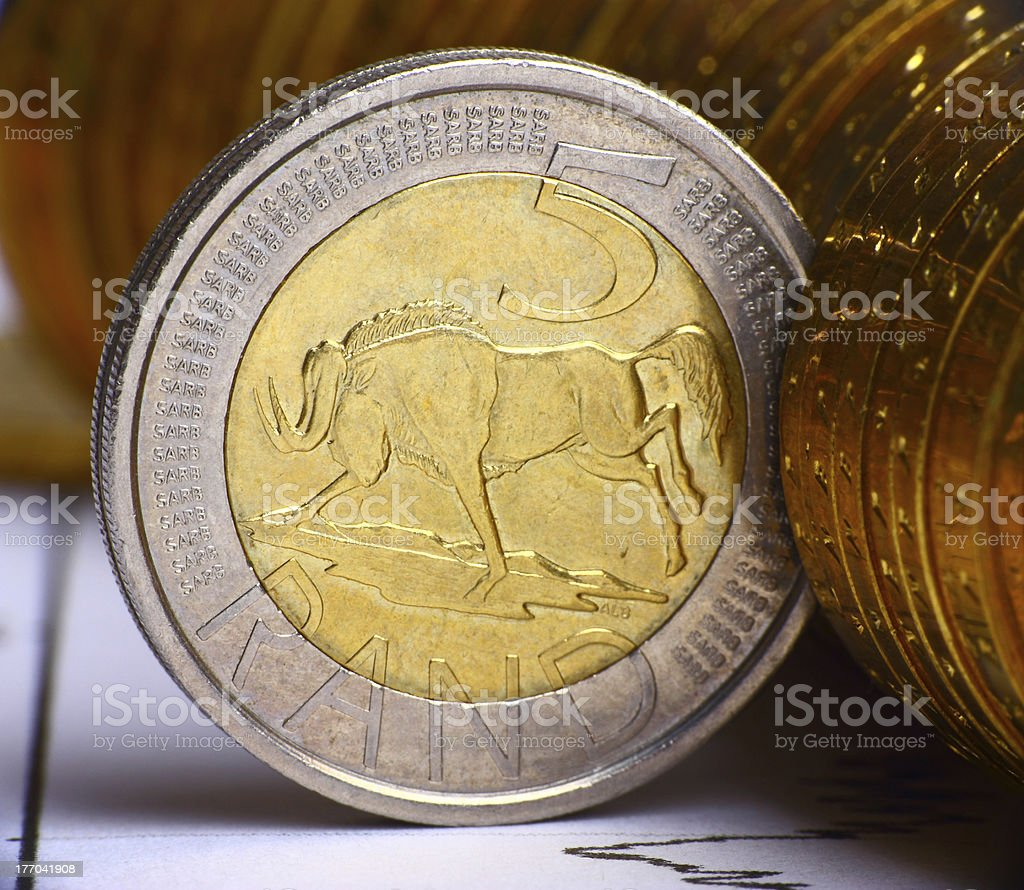 South African currency royalty-free stock photo