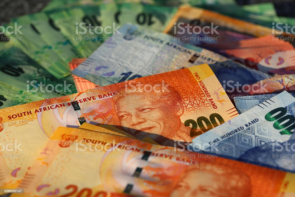 South African Currency stock photo