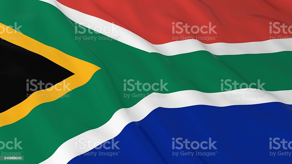 South African Flag HD Background - Flag of South Africa stock photo