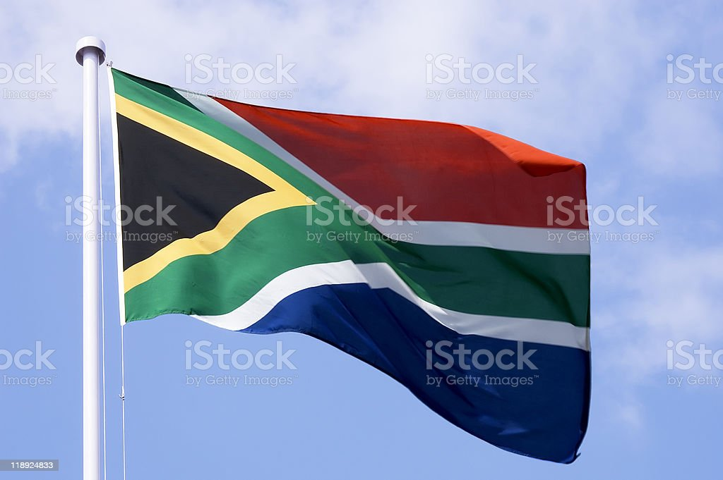 South African flag royalty-free stock photo
