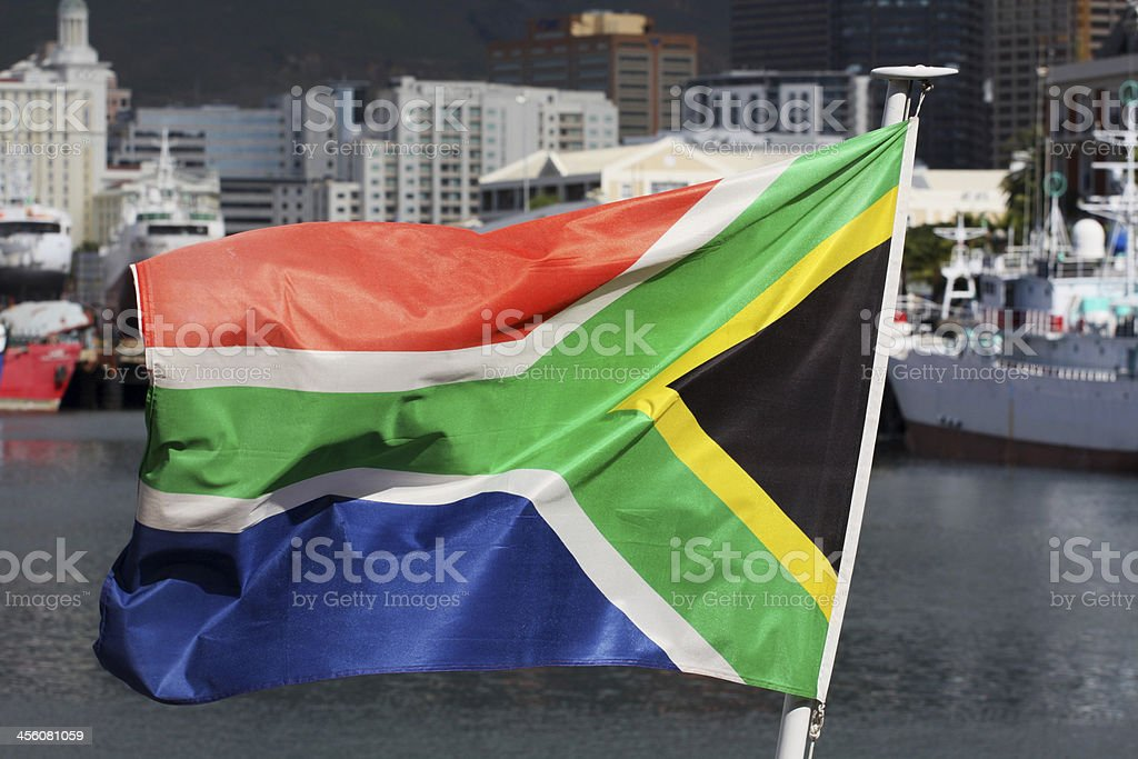 South African flag stock photo