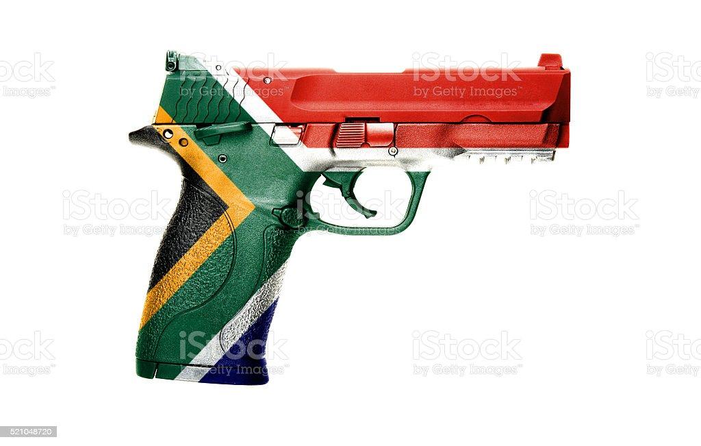 South African gun stock photo