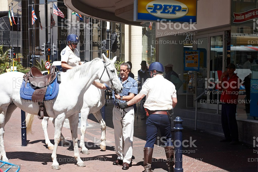 South African mounted police royalty-free stock photo