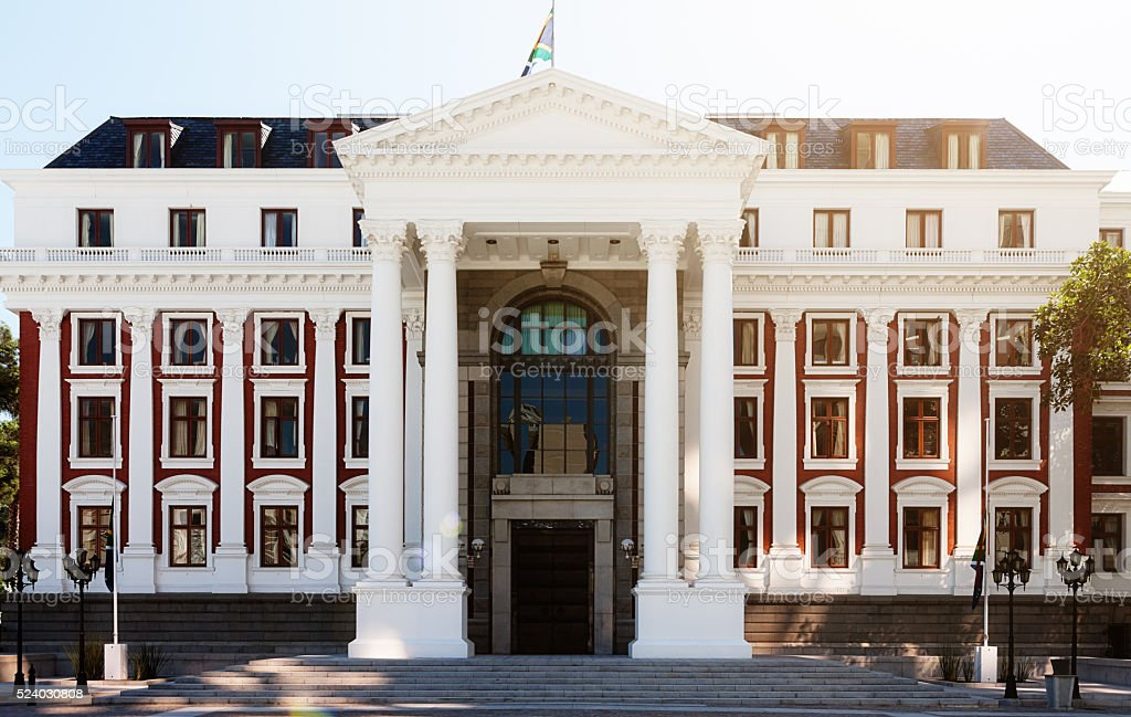 South African Parliament building, Cape Town stock photo