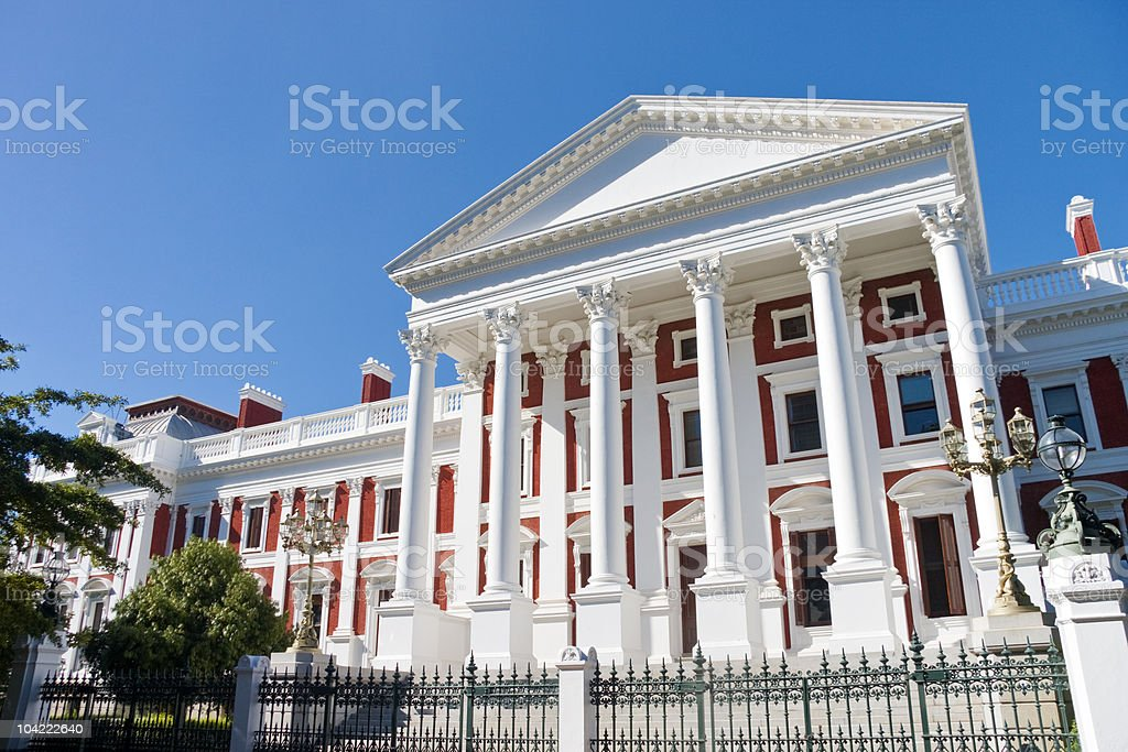 South African parliament buildings in Cape Town stock photo