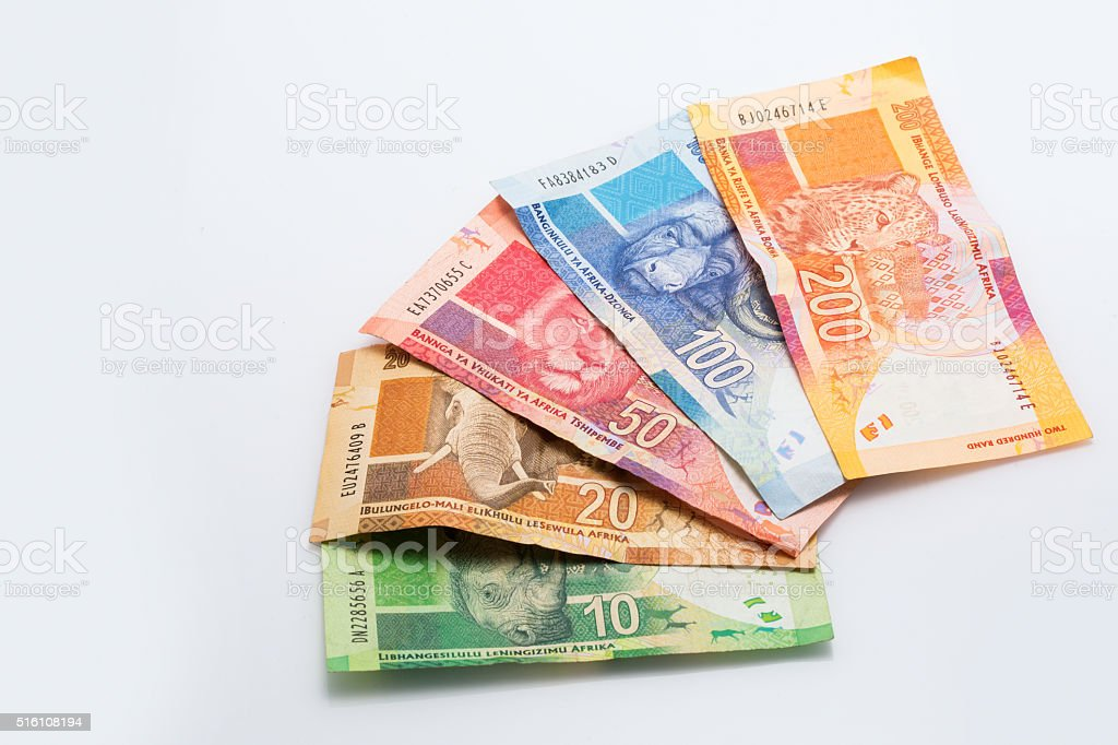 South African Rand grouped stock photo
