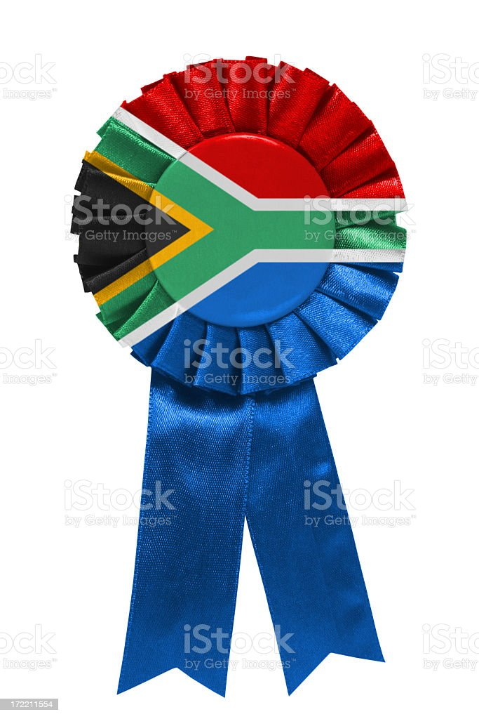 South African ribbon stock photo