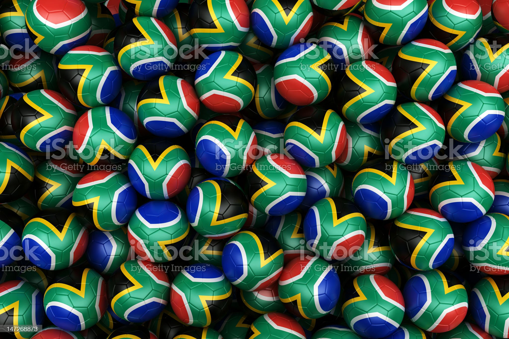 South African Soccer balls royalty-free stock photo