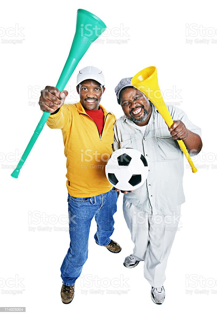 South African soccer fans royalty-free stock photo