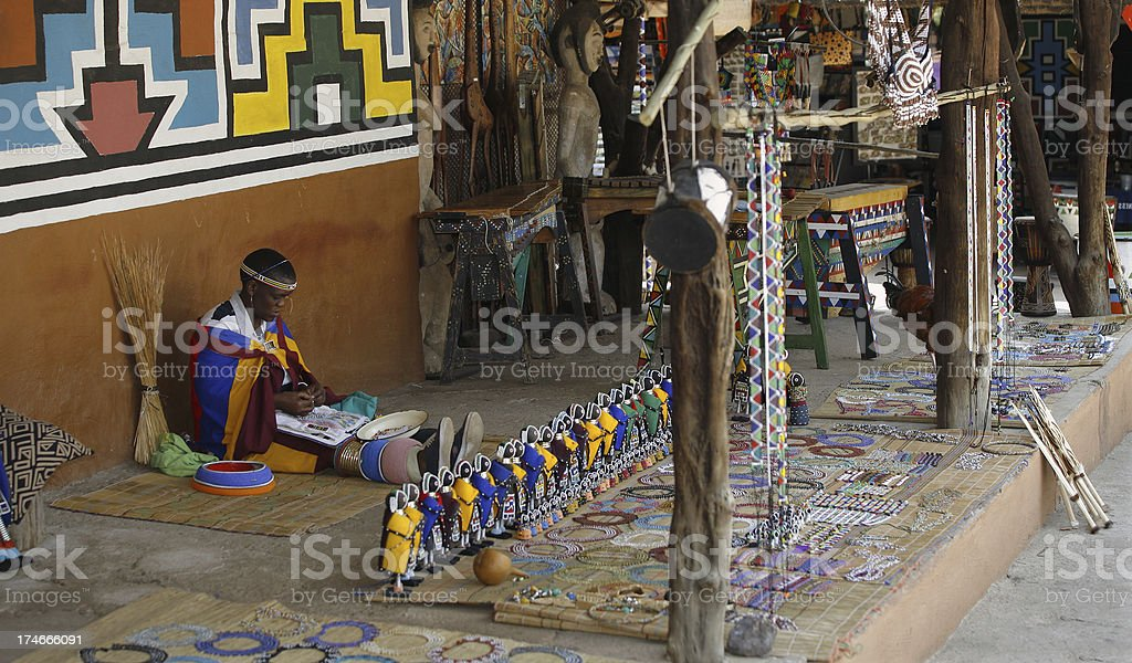 South African souvenirs stock photo