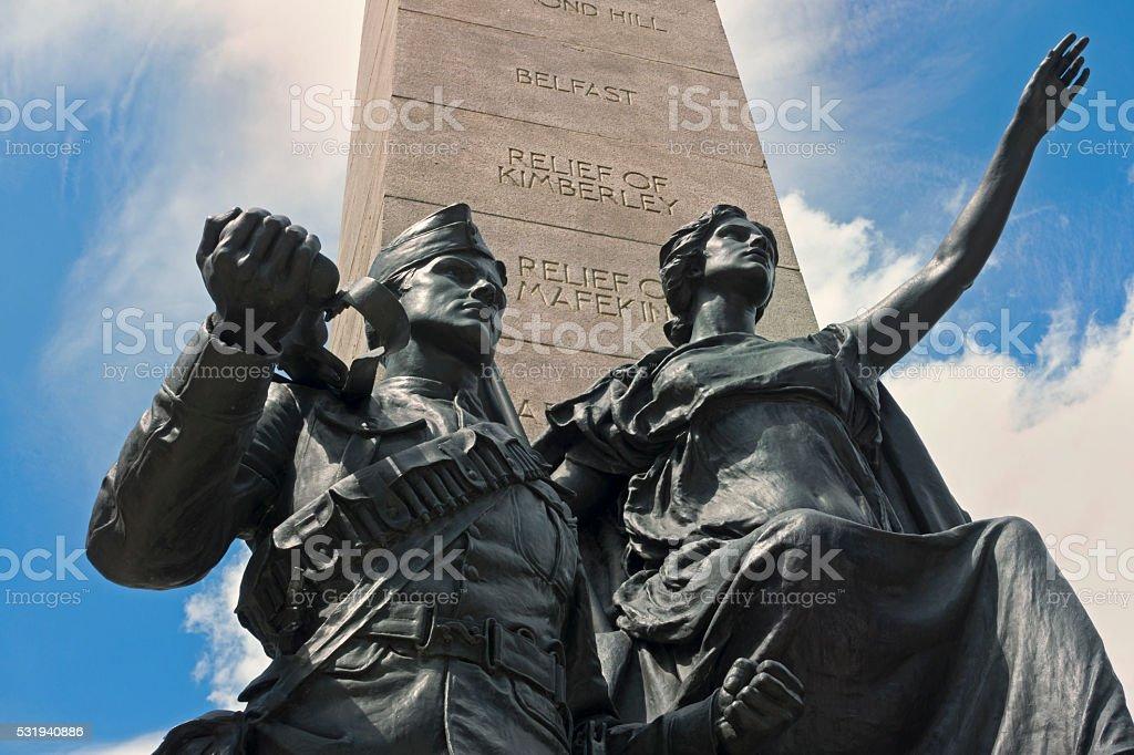 South African War Memorial, Toronto stock photo