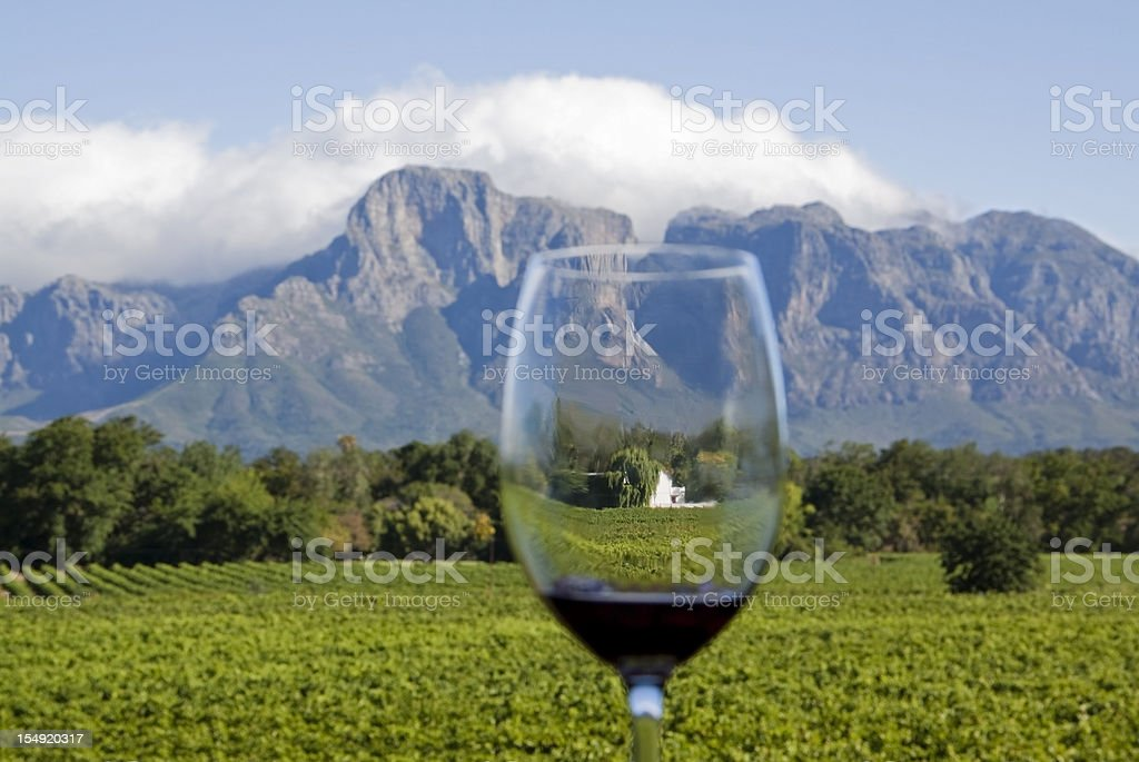 South African Wine Country stock photo
