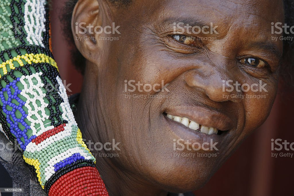 South African with Vuvuzela royalty-free stock photo