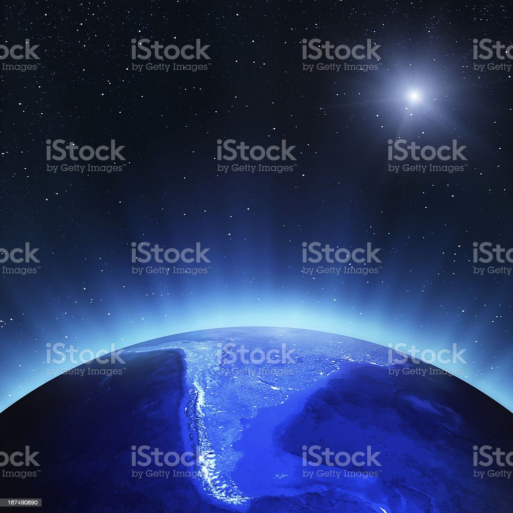 South America at night royalty-free stock photo