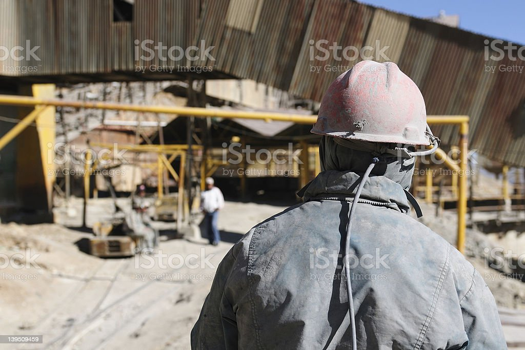 South America - Bolivia, Potosi, miners working royalty-free stock photo