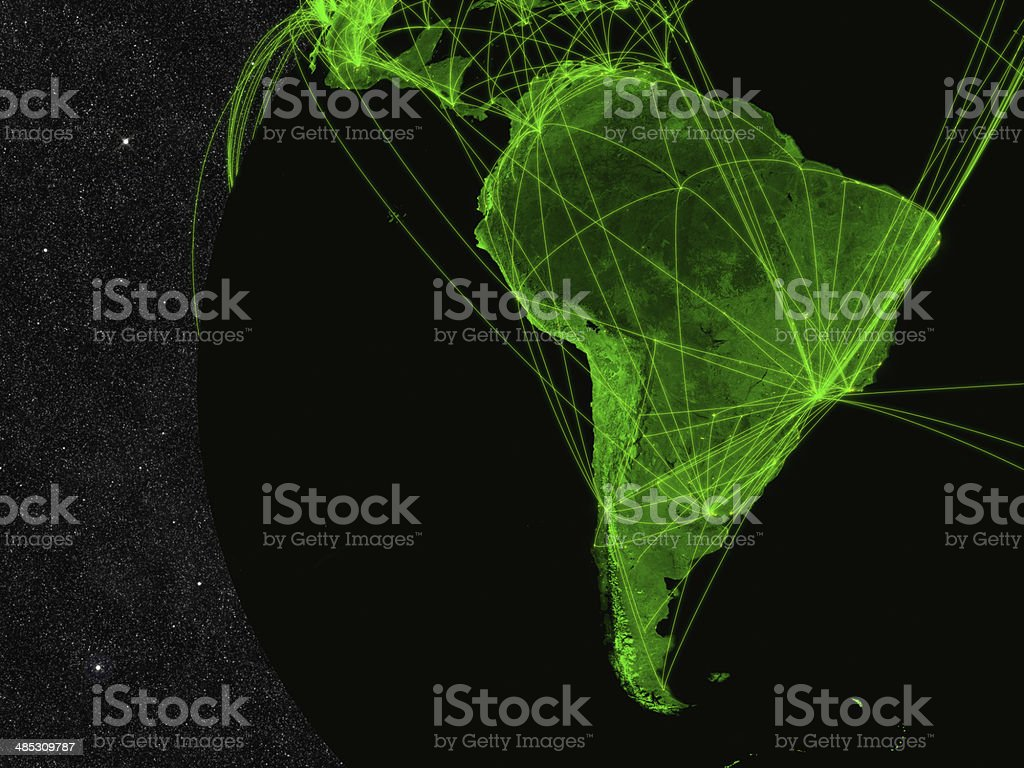 South America network stock photo