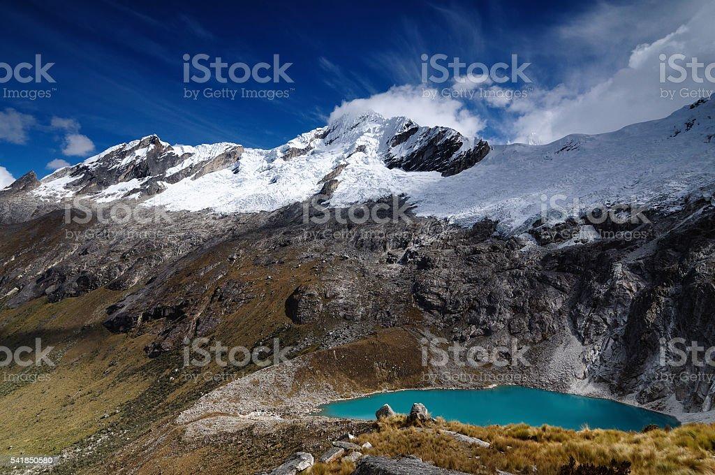 South America, Peru, Cordillera Blanca mountains stock photo