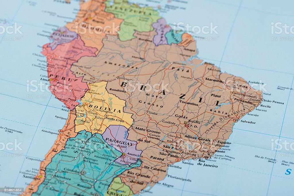 South America. stock photo